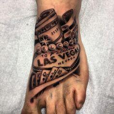 Las Vegas Money Tattoo by Adrenaline Vancity Tattoo Artist Kyle Hoffarth