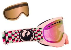 Dragon DXS Pink Day Tripper Ion womens snowboard ski goggles