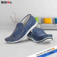 327b44ffc Buy Action Navy Blue Moccasins Online - 5014759 - Jabong. Loafers Men MoccasinsCasual ShoesDon t ...