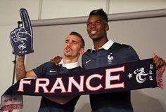 Antoine Griezmann and Paul Pogba