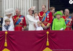 "Camilla Parker Bowles,  prince Charles, Kate Middleton, princess Charlotte,  prince George,  prince William,  prince Harry, Elizabeth II,  prince Philip, Buckingham parade ""Trooping The Colour"""