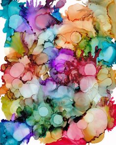 Original alcohol ink abstract painting on Yupo paper by AngeleSage, $50.00