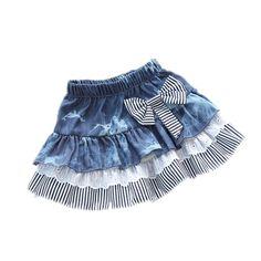 Barato Roupas de bebê 2016 Hot Sale bebê adorável saias bonito crianças Stripe…