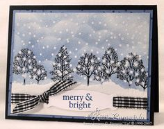 KC Merry Snowy Trees by kittie747 - Cards and Paper Crafts at Splitcoaststampers