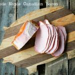 Homemade Maple Canadian Bacon {Smoker Optional} - Foodie With Family How To Make Sausage, Food To Make, Sausage Making, Back Bacon Recipe, Pork Sausage Recipes, Pork Bacon, Meatloaf Recipes, Meat Recipes, Curing Bacon