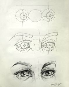 Eye Drawing Tips - I love how quickly this escalates. Its like: well first ya got yer guidelines here, thosell help ya get started. Then yer gunna wanna sketch up a rough version of what yer g? Art Drawings Sketches, Pencil Drawings, Art Sketches, Pencil Sketching, Girl Drawings, Horse Drawings, Art Illustrations, Cartoon Drawings, Figure Drawing