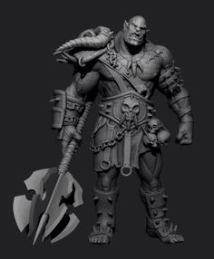 Orc ZBrush Speed Sculpt