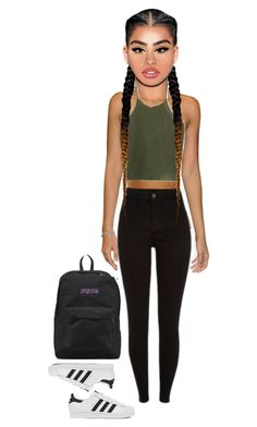"""""""Untitled #53"""" by california347 on Polyvore featuring adidas and JanSport"""
