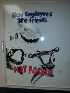 How you know you're working with awesome people. friends, foods, new students, findingnemo, funni, nurs, people, breakroom, finding nemo