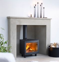 Part of a range of freestanding and inset stoves with a large landscape window showing a large flame picture. - Part of a range of freestanding and inset stoves with a large landscape window showing a large flame picture. Wood Burner Fireplace, Wood Burning Fireplace Inserts, Open Fireplace, Fireplace Ideas, Tiled Fireplace, Fireplace Mantles, Mantel Ideas, Log Burner Living Room, Living Room With Fireplace