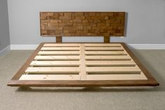 How to build a beautiful DIY bed frame & wood headboard easily. Free DIY bed plan & variations on king, queen & twin size bed, best natural wood finishes, and lots of helpful tips! - A Piece of Rainbow Diy Platform Bed Plans, Diy Platform Bed Frame, Platform Bed Designs, Modern Platform Bed, Wood Platform Bed, Floor Bed Frame, Floor Beds, Diy Wood Bed Frame, Diy Bed Frame Plans