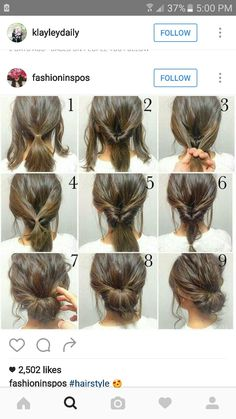 Quick Hairstyles For Work Hairstyles Image Tpvu Medium Hair Styles, Curly Hair Styles, Medium Length Hair Updos, Hair Updos For Medium Hair, Hairstyles For Medium Length Hair Tutorial, Casual Updos For Long Hair, Casual Bun, Short Styles, Short Hair Simple Updo