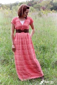 Ruffle Maxi Dress Tutorial
