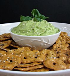 Ultra Creamy Avocado Dip! made with greek yogurt and ready in