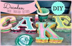 Decoden Faux Cake Letters  •  Free tutorial with pictures on how to make a letter in under 90 minutes