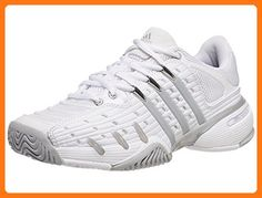 best quality 6d0ec 74107 adidas Performance Women s Barricade V Classic W Tennis Shoe,  White Silver Grey,