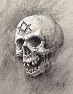 Masonic Skull study by Stelf-2014 on deviantART