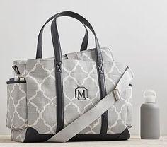 Gray Ikat Clic Diaper Bag