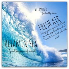 All I need is Vitamin Sea - Fresh Air - quote - sea breeze - white sand - salt water - vacation - spring break - summer time - daydreaming. Ocean Quotes, Beach Quotes, Beachy Girl, No Bad Days, Summer Of Love, Summer Time, Beach Bum, Love Words, Peace Of Mind
