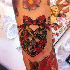 traditional padlock tattoo - Google Search