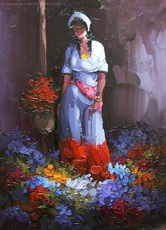 Saim Dursun Painting People, Woman Painting, Artist Painting, Dance Paintings, Paintings I Love, Realistic Oil Painting, Figure Painting, Acrilic Paintings, African Paintings