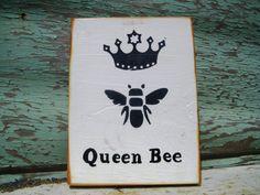 Queen Bee SignWood Wall ArtMothers Day GiftBee HappyWood