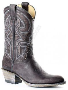 Corbeto's Boots | 10355 Debora Olimpia Antracita  | Bota cowboy Sendra Boots media caña cuero desgastado para mujer | Sendra Boots ladies mid calf distressed leather cowboy boots.