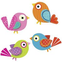 Express your sense of style by decorating your classroom with the contemporary Boho Birds assorted mini Colorful Cut-Outs(R). This multipurpose set features 36 bird cut-outs in a variety of colors tha Vbs Crafts, Preschool Crafts, Easter Crafts, Craft Activities, Art For Kids, Crafts For Kids, Arts And Crafts, Cubby Tags, Unicorn Diy