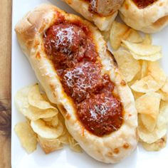 Easy Sausage Meatball Subs | Baked by Rachel