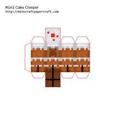 Papercraft Mini Cake Creeper Minecraft Blocks, Minecraft Plans, Minecraft Tutorial, Minecraft Crafts, Minecraft Party, Paper Pop, Mini Cakes, Creepers, Origami