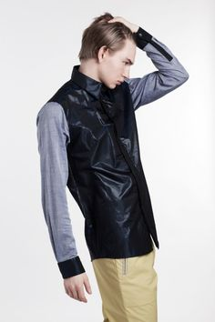 LISA PEK. AW12.13. whos next 06 Home Art, Lisa, Menswear, Textiles, Leather Jacket, Collection, Archive, Jackets, Fashion