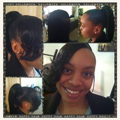 Sculptured ponytail!! With swoop bang!!!
