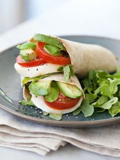 Avocado Caprese Wrap | foodiecrush.com