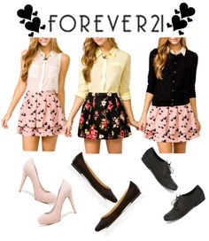 """""""Which of these 3 forever 21 outfits would YOU wear comment below!!!!"""" by veniiamor ❤ liked on Polyvore"""