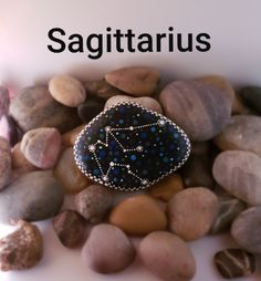 The Original Hand Made Rock Art or Texas by OriginalRockArt Sagittarius Zodiac, Horoscope, Astrology Stars, Star Constellations, Dotting Tool, Using Acrylic Paint, Stone Painting, Rock Art, Painted Rocks