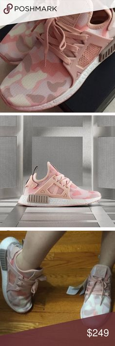 Adidas Nmd camo pink Brand new never been worn , some say it's true to size , some says it runs half size large. So please do some research before buying . Do not hesitate to ask any question before buying. bundle and save using bundle feature  Adidas Shoes Sneakers