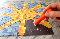 Ancient Romans created beautiful mosaic artworks. According to the BBC, the mosaics used in Rome were home decorations and ranged from store-bought common designs to custom made designs. Parents and children can make their own mosaic artworks with some colored paper and glue for a fun family craft.
