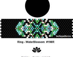 peyote ring pattern,PDF-Download, #198R, beading pattern, beading tutorials, ring pattern