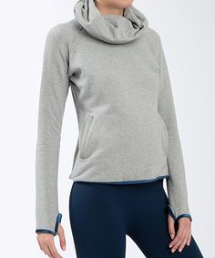 Look what I found on #zulily! Grace Project Heather Gray Lotus Sweater by Grace Project #zulilyfinds