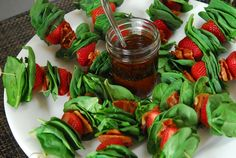 Spinach Strawberry Salad Skewers