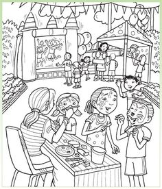 kids carnival games coloring pages - photo#48