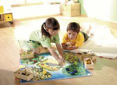 Obstgarten Bodenspiel - Unser Klassiker als Bodenspiel. Die Kinder versuchen gemeinsam, das Obst zu ernten, bevor der Rabe es stibitzt. (Artikelnummer 4300)