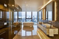 Luxury Home Decor, Luxury Interior, Home Interior Design, Interior Architecture, Dream House Interior, Luxury Homes Dream Houses, Apartamento New York, Luxury Penthouse, Penthouse Apartment