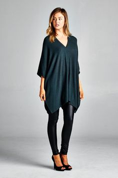 Charlie Tunic in Midnight Teal | Women's Clothes, Casual Dresses, Fashion Earrings & Accessories | Emma Stine Limited