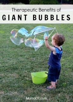 Therapeutic Benefits of Playing with Giant Bubbles #childdevelopment #pediOT