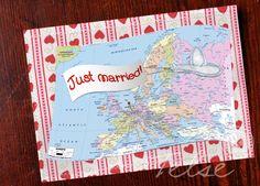 """Postkarte """"Just married!"""" von Telse Ahrweiler       Kunst + Design auf DaWanda.com"""