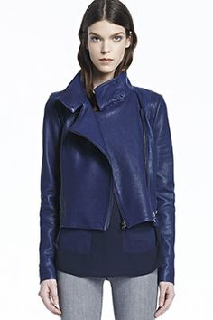 #JBrandHoliday #WMAG J Brand, Connix Leather in Blueberry, blueberry, Ready To Wear : Blazers & Jackets, JW14LE6688