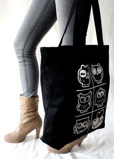 Heawing -kangakassi, denim // Headwing - denim tote bag Design by Pisama Design