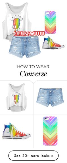 """""""Rainbow!"""" by madik2404 on Polyvore featuring rag & bone/JEAN, Converse, Casetify and rainbow"""