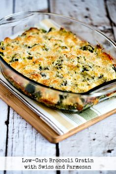 Low-Carb Broccoli Gratin with Swiss and Parmesan title photo